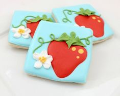 Pretty strawberry cookies