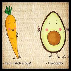 🚗 #pun #punny #carrot #avocado #smashedavo #clever #vegetables #driving #bus #car #newcar #wheels #tunes #health #nutrition #instafood #regram #qotd #joke #smile #laugh #love #life #bliss