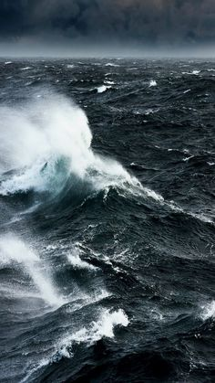 Spindrift whipped up on a stormy sea – Photography No Wave, Ocean Wallpaper, Nature Wallpaper, Storm Wallpaper, Ocean Photography, Background For Photography, Stürmische See, Ocean Storm, Stormy Sea
