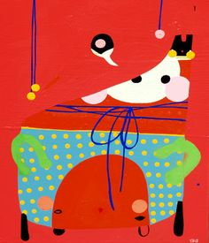 Kate McCarthy Cardinal Red - 2015 Mixed media (oil and aerosol) on canvas 35 x 45 cm 'RED' - Expressionism Group Exhibition at SOFITEL Gold Coast Mc Carthy, Australian Artists, Gold Coast, Contemporary Art, Presents, Snoopy, Canvas, Creative, Instagram Posts