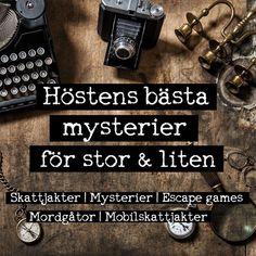 Massvis med färdiga festlekar och mysterier för alla åldrar. Barn som vuxna! Skattjakter, Escape Games, Mordgåtor! Ladda hem och överraska gästerna med något utöver det vanliga! www.grapevine.nu #mordgåtor #escapegame #escaperoom #skattjakt #mordmysterier Exit Games, Escape Games, Escape Room, Barn, Converted Barn, Sheds, Barns