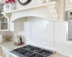 Superb Range Backsplash 8 Tile Behind Stove