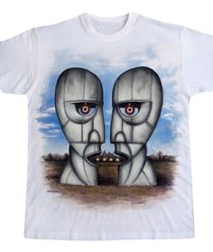 the division bell - hand painted t-shirt