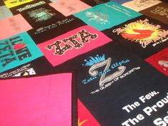 definitely doing this with all my tshirts of zeta! LOVE THIS IDEA