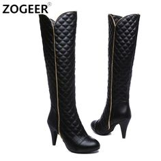 Quilted Fashion K...  at ReShop Store  here http://www.reshopstore.com/products/quilted-fashion-knee-high-boots-high-heels-up-to-size-12-27cm?utm_campaign=social_autopilot&utm_source=pin&utm_medium=pin