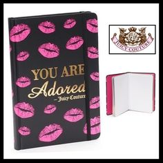 "💜HP💜JUICY COUTURE ""You Are Adored"" Journal JUICY COUTURE ""You Are Adored"" Journal Notebook- Limited Edition Hardcover Lined pages Elastic strap to keep it closed Pink lips on both the front and back cover Measures: 8.25"" H x 5.6"" W x 0.74"" D Juicy Couture Other"