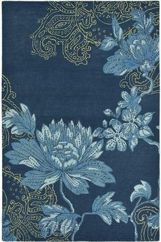 Buy Wedgwood Fabled Floral Navy Wool Viscose Designer Rug from Rugs of Beauty. FREE shipping on all sizes. Make a beautiful addition to your living space today!