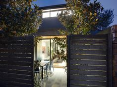 fenced patio