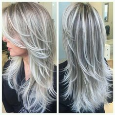 New hair color brown grey blonde highlights Ideas pins Grey Blonde, Platinum Blonde, Golden Blonde, Blonde Color, Light Blonde, Gray Color, Greyish Blonde Hair, Ombre Colour, Blonde Bangs