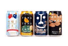 一组不错的日本啤酒包装设计