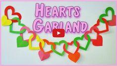 DIY crafts: Heart Garland