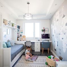 p/kleines-zimmer-einrichten delivers online tools that help you to stay in control of your personal information and protect your online privacy. Small Room Bedroom, Baby Bedroom, Girls Bedroom, Bedroom Decor, Small Bedrooms, Chambre Nolan, Guest Room Office, Kids Room Design, Kid Spaces