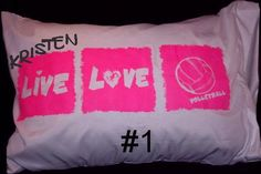 TRAVELING Sports VOLLEYBALL Pillowcase PERSONALIZED. $12.99, via Etsy.