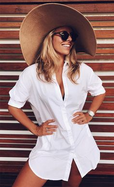 48 Trendy Ideas For Moda Praia Biquini Branco Best Summer Dresses, Summer Outfits, Beach Outfits, Beach Dresses, Outfit Strand, Natasha Oakley, Beachwear For Women, Beach Look, Belle Photo
