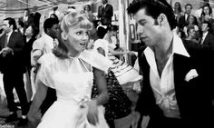 Grease, Randal Keiser ,Olivia Newton John and John Travolta Movie Facts, Movie Gifs, Movie Tv, Grease 1978, Grease Movie, Olivia Newton John, My Fair Lady, Sandy And Danny, Grease Is The Word