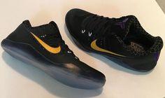 88a339fe25b Nike Kobe XI 11 Carpe Diem 836183-015 US 12 EU 46 Men Mesh Black Purple  Gold