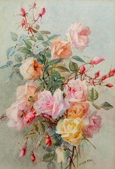 ❀ Blooming Brushwork ❀ garden and still life flower paintings - Maria Teresa Hegg