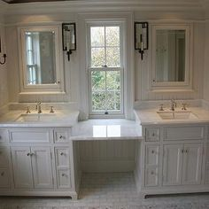 Master bath - I would change the white but I love the look
