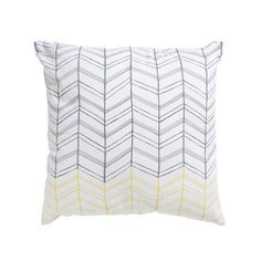 Milk and Sugar- Vine Cushion Yellow