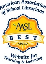 """Best Websites for Teaching & Learning.  """"The list is considered the """"best of the best"""" by AASL and is comprised of free, user-friendly sites that encourage a community of learners to explore and discover."""""""