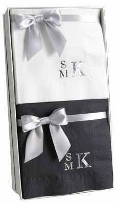 Stacked Monogram Style Gift Set in Choice of Colors