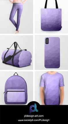 Ultra violet purple geometric mesh iPhone X 8 7 6 & Samsung Galaxy S8 S7 Case, backpack, duffle bag, tote bag, all over print t-shirt, leggings, apparel, accessories and more by #PLdesign #style #fashion #apparel @society6