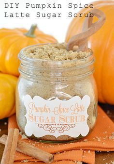 DIY Pumpkin Spice Latte Sugar Scrub