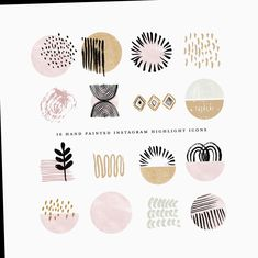 whimsical branding and illustrations by beatriceviyiwi Cupcake Logo, Clipart, Watercolor Circles, Watercolor Logo, Photo Editing Apps, Bakery Logo, Custom Icons, Photography Marketing, Pink Beige