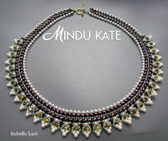 MINDU KATE SuperDuo Beadwork Necklace Pdf tutorial by bead4me, $10.00