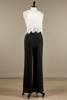 Versona lace colorblock jumpsuit #Versona