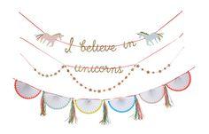Meri Meri   I Believe in Unicorns Garland
