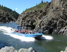 "Hellgate Jetboat Excursions on the Rogue River in Grants Pass. A true ""E"" ticket ride for fun and an amazing meal at the OK Corral"