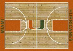 Miami Rug University Basketball Court