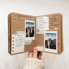 I love that journals on craft paper, it gives such a cool vintage feel ✨ - Shop bujos, brush pens, planners,… Couple Scrapbook, Scrapbook Journal, Travel Scrapbook, Diy Scrapbook, Scrapbook Albums, Scrapbook Photos, Journal Art, Photo Journal, Diy Gifts For Boyfriend