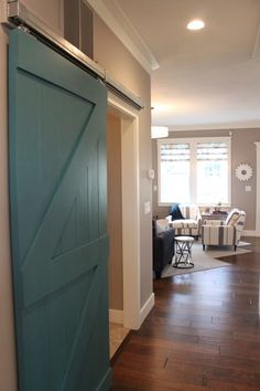 Salt Lake Parade of Homes Part 2! - blue barn door adds personality