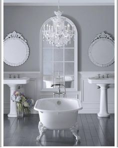 OMG..... Bathroom perfection.  This WILL be my reality. #peacefull #blessed #interiordesign #lovewhereyoulive  #interior #decor #design #greytones #livingroom #livingroomdecor #dreamhouse #homedecor #stayathomemom #decorating #heaven #oneday #homegoals #fashionista #decorating #chic #style #homedecor #interiordesigner #homedesign #decorate #chanel #homeideas #masterbedroom #bathroom #soakingtub by mother_of_a_ninja_turtle http://discoverdmci.com