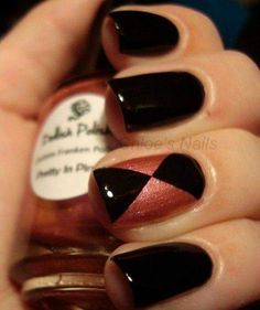 Just a tinge of pink with bold black looks amazing