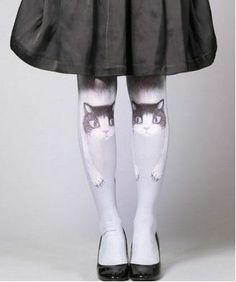 Vintage leggings For cat person collection I'm a cat by PurpleFishBowl2, $35.00
