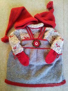 9 dager til julaften! Crochet Doll Clothes, Mittens, Knit Crochet, Crochet Patterns, Reusable Tote Bags, Knitting, Barn, Creative, Kids
