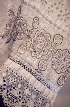 Detail od beautiful embroidering from traditional festive man shirt from Malacky, Slovakia #folklore #Malacky