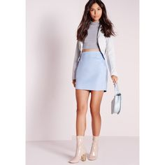 Missguided Lace Detail Faux Suede Mini Skirt (€14) ❤ liked on Polyvore featuring skirts, mini skirts, blue, pink a line skirt, pink skirt, faux suede skirt, faux suede a line skirt and missguided skirt