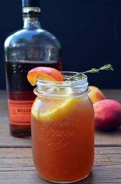 Couldn't you even skip the bourbon and make her a virgin?) Bourbon Peach Sweet Tea Recipe ~ This Bourbon Peach Sweet Tea uses Southern-inspired flavors to create the perfect porch-sipping, summer heat-beating cocktail. Summer Cocktails, Cocktail Drinks, Cocktail Recipes, Bourbon Drinks, Sweet Tea Cocktail, Party Drinks, Fun Drinks, Beverages, Fruity Drinks