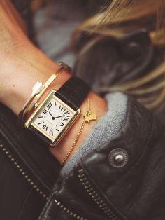 Camilla Pihl wearing her Cartier watch. Army Watches, Watches For Men, Pocket Watches, Cartier Watches Women, Cartier Tank Solo, Tank Watch, Jewelry Accessories, Fashion Accessories, Luxury Jewelry