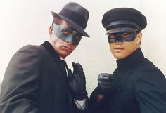 The Green Hornet (1966–1967) - Cast and history: http://www.imdb.com/title/tt0059991/  Theme music: http://www.youtube.com/watch?v=wIwsqFjfKPs