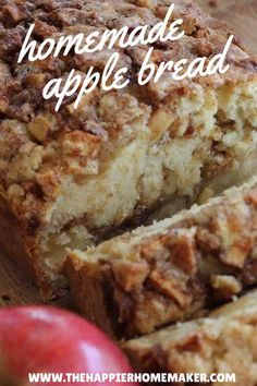 Apple Cinnamon Bread One of the most popular recipes out there-this amazing cinnamon apple bread recipe is the perfect fall dessert! (And makes your house smell amazing! Bread Machine Recipes, Easy Bread Recipes, Cinnamon Recipes, Apple Baking Recipes, Cinnamon Apples, Apple Bread Recipe Healthy, Cinnamon Rolls, Apple Cinnamon Loaf, Ww Recipes
