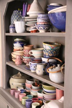Exactly what I've always pictured my kitchen cabinets to look like