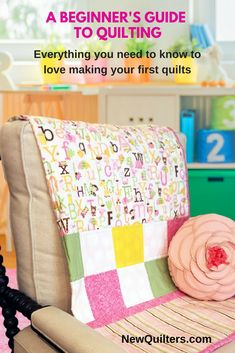 Everything you need to love making your first quilts is right here in this book: detailed photo tutorials that show you every step of making a quilt from start to finish, five fun and easy quilt patterns, four bonus fabric quilt labels, four bonus quilt block guides, AND a set of quilting needles. Grab your copy today. #quilting, #quiltpatterns, #quiltingtutorials, #quiltingforbeginners #newquilters.com, #familiuspublishing Beginner Quilting, Quilting For Beginners, Quilting Tips, Quilting Tutorials, Book Quilt, Quilt Top, History Of Quilting, Sewing Labels, Quilt Labels
