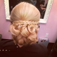 Up do with a braid