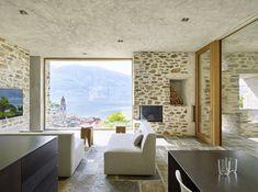 Il progetto di Wespi de Meuron guarda verso il Lago Maggiore, si adatta alla pendenza del suolo e trae ispirazione dai suoi caratteristici muri a secco.