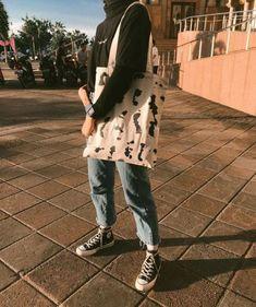 Japanese Fashion Street Casual, Modern Hijab Fashion, Street Hijab Fashion, Korean Fashion, Hijab Casual, Casual Outfits, Ootd Hijab, Converse Outfits, Streetwear Mode